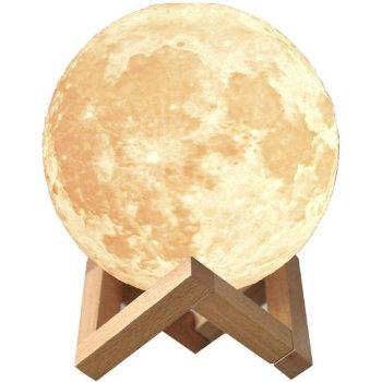 """Ночник """"Луна"""" на деревянной подставке (15 см)"""