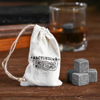 """Камни для виски """"Настоящий джентльмен"""" (4 кубика)"""