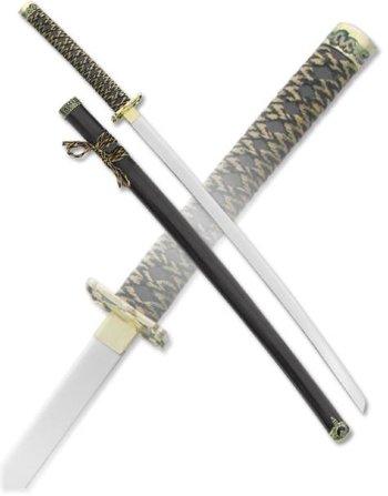 Самурайский меч-катана с ножнами синего цвета (100 см, подставка в подарок)