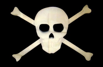 "Пиратский флаг ""Череп и кости"" (135 х 90 см)"