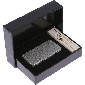 """Дуговая USB зажигалка """"Серебристый металлик"""""""
