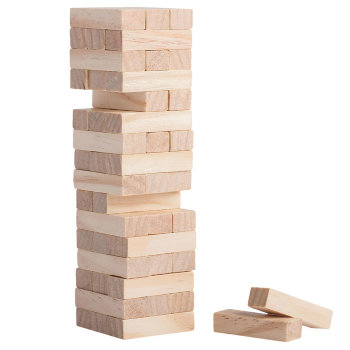 """Настольная игра """"Мини падающая башня"""" (18 см)"""