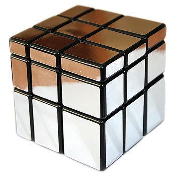 """Головоломка """"Зеркальный кубик"""" серебряного цвета"""