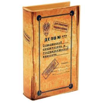 """Книга-сейф """"Дело совершенной секретности"""" (21 х 14 см)"""