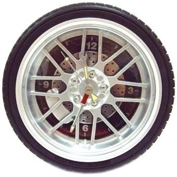 """Настенные часы """"Автомобильное колесо"""" (26 см)"""