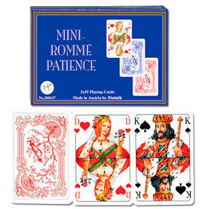 """Пасьянсные карты """"Mini Romme Patience"""" (Piatnik, две колоды по 55 карт)"""