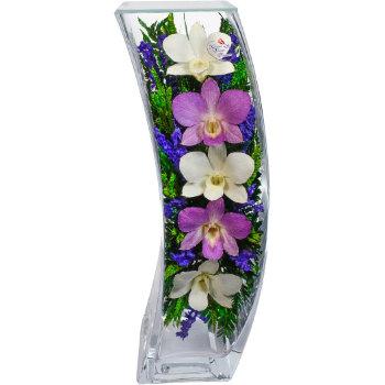 Орхидеи в стекле SqCO3 (30,5 см)