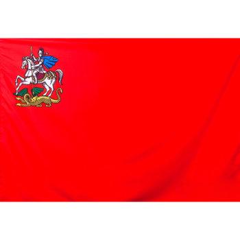 Флаг Московской области на флажном шёлке (135 х 90 см)
