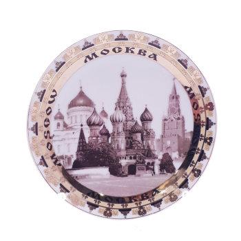 "Сувенирная тарелка ""Москва, сепия"" (12 см)"