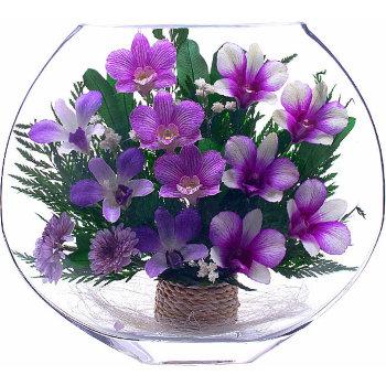 Орхидеи в стекле EMO-10 (25 см)