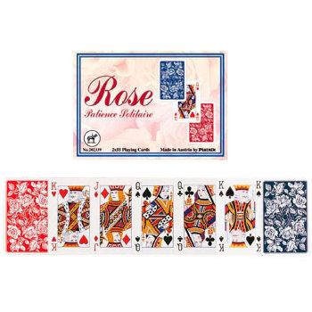 """Пасьянсные карты """"Rose"""" (Piatnik, две колоды по 55 карт)"""