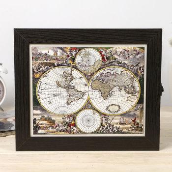 "Ключница ""Карта мира"" (30 х 25 х 5 см)"
