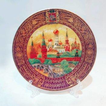 """Сувенирная тарелка """"Московская роспись"""" (10 см)"""