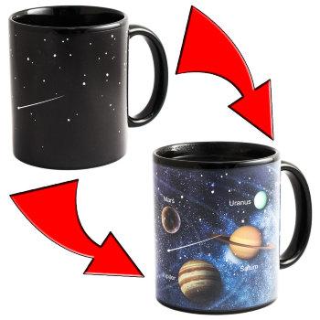 """Кружка-хамелеон """"Звёздное небо и Планеты"""" (300 мл)"""