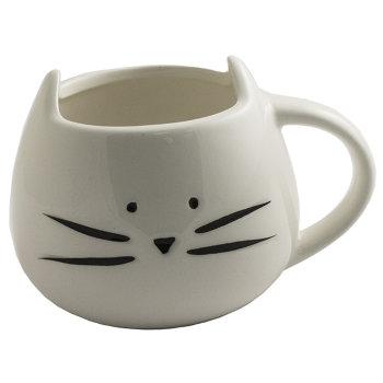 "Кружка ""Белый котик с ушками"" (300 мл)"