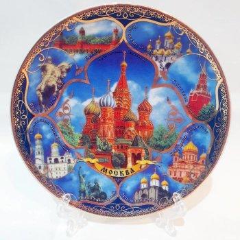 """Сувенирная тарелка """"Московские купола и колокольни"""" (10 см)"""
