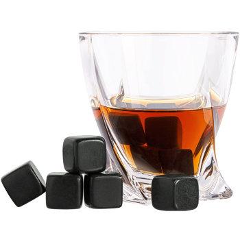 """Камни для виски """"Black Rocks"""" (9 камней для виски, мешочек)"""