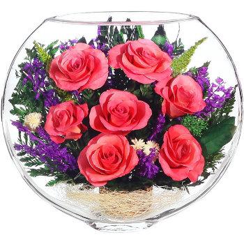 Розы в стекле ESRp-02 (20 см)