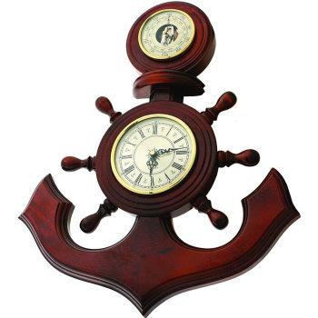 """Настенные часы """"Якорь"""" с барометром (53 см, Россия)"""