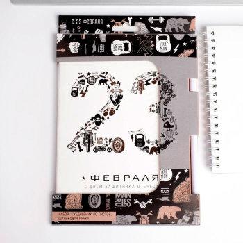 """Ежедневник """"23 февраля"""" с ручкой (A5, 80 листов)"""