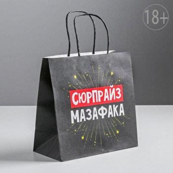 """Подарочный пакет """"Сюрпрайз"""" (22 х 22 х 11 см)"""