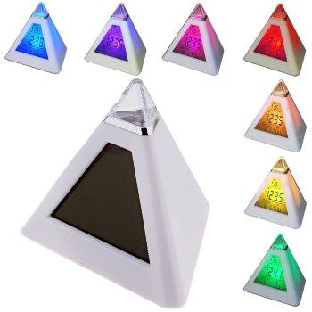 """Будильник """"Пирамида"""" (с переливающейся подсветкой)"""