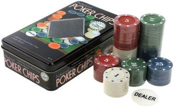 Набор из 100 покерных фишек с номиналом
