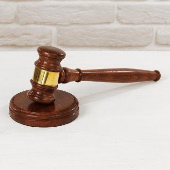 Судейский молоток с латунной вставкой