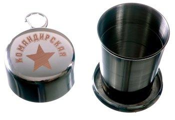 """Складной стакан """"Командирская"""" с карабином (150 мл)"""