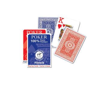"""Пластиковые игральные карты """"Poker Jumbo Index"""" (Piatnik, 55 карт)"""