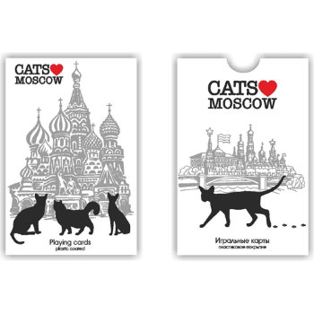 """Игральные карты """"Московские коты"""" (54 карты)"""