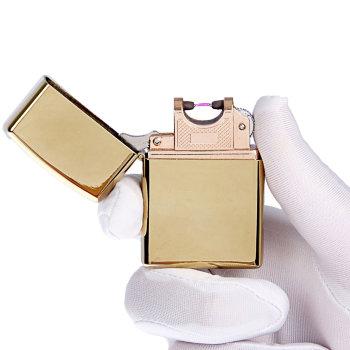 """Дуговая USB зажигалка """"Золотой хром"""""""