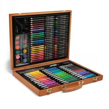 Набор для рисования в деревянном пенале (150 предметов)