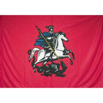 Флаг Москвы на флажном шёлке (135 х 90 см)