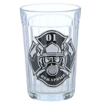 "Гранёный стакан ""Пожарный 01"" (270 мл)"