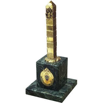 """Статуэтка """"Пограничная служба"""" из бронзы и змеевика (16,5 см)"""