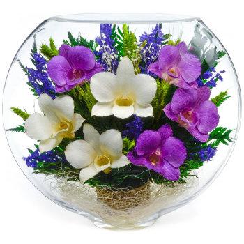 Орхидеи в стекле ESO-02 (20 см)