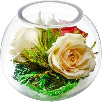 Розы в стекле BSR5c2 (11 см)