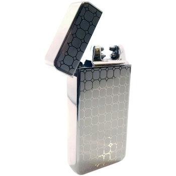 """Дуговая USB зажигалка """"Серый орнамент"""""""