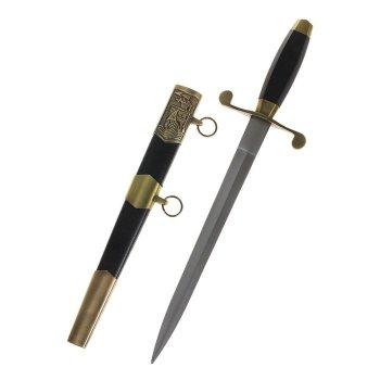 Сувенирный кортик с чёрной рукоятью