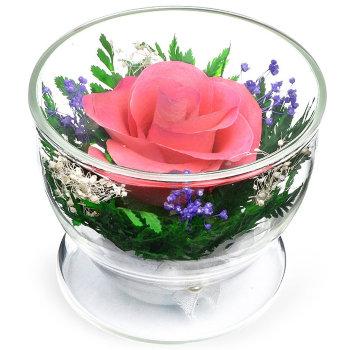 Роза в стекле CuSRp (8,5 см)