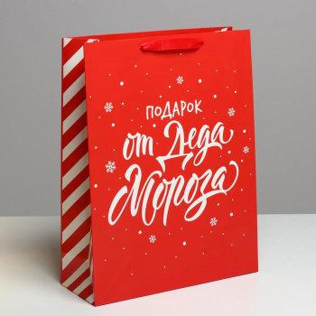 """Подарочный пакет """"Подарок от Деда Мороза"""" (40 х 31 х 11,5 см)"""