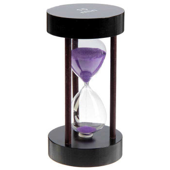 Песочные часы на 15 минут (цвет песка в ассортименте)