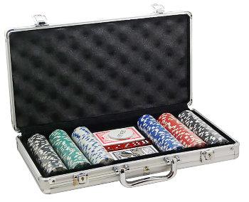 Набор для покера из 300 фишек без номинала в кейсе
