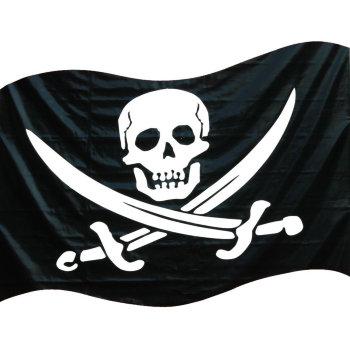Флаг Весёлый Роджер с саблями (135 х 90 см)