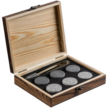 """Камни для охлаждения виски """"Rock Bar"""" (6 камней, щипцы)"""