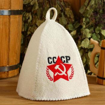 """Шапка для бани """"СССР"""""""