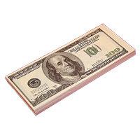 """Забавная пачка денег """"100 долларов"""""""