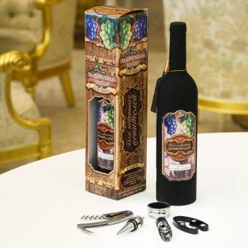 """Набор аксессуаров для вина """"Для истинных ценителей"""" (5 предметов)"""