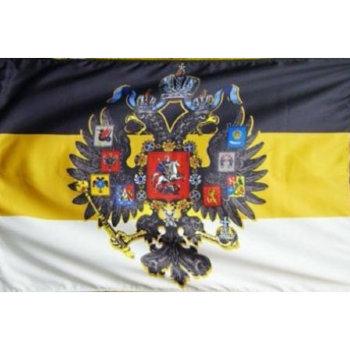 Флаг Российской империи с гербом (135 х 90 см)